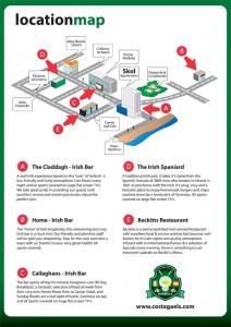 GAA Map pubs