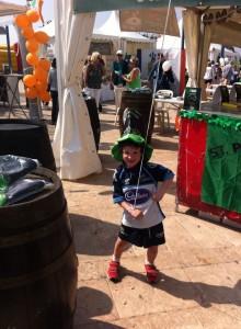Boy at St. Patricks Day Marbella 2016