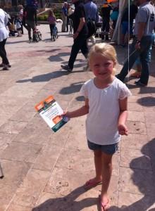 Girl at St. Patricks Day Marbella 2016